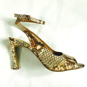 NEW - Vince Camuto Reteema Snake Ankle-strap Pump